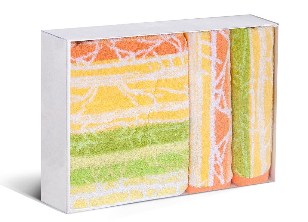 Набор полотенец Soavita Интер, цвет: желтый, зеленый, 3 штBH-UN0502( R)Набор Soavita Интер состоит из трех полотенец, которые выполнены из 100% хлопка. Изделия отлично впитывают влагу, быстро сохнут, сохраняют яркость цвета и не теряют форму даже после многократных стирок. Полотенца очень практичны и неприхотливы в уходе. Такой набор Soavita Интер создаст прекрасное настроение и украсит интерьер в ванной комнате.