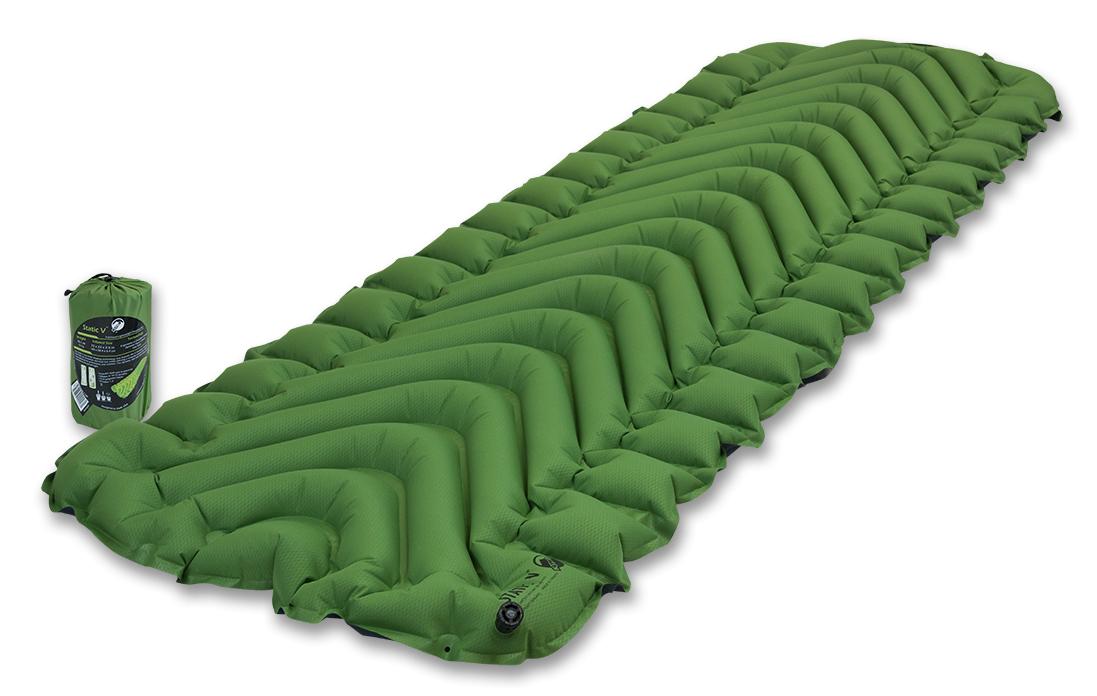 Коврик надувной Klymit  Static V pad , цвет: зеленый - Туристические коврики
