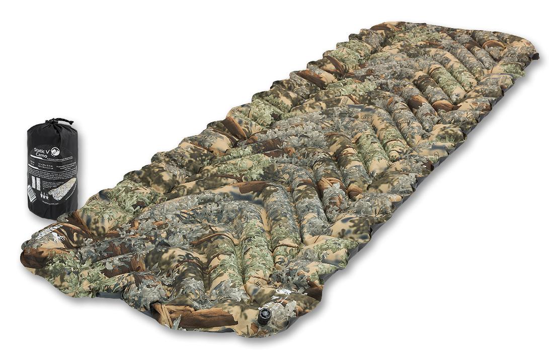 Надувной коврик Klymit  Static V-Camo , цвет: камуфляж - Туристические коврики