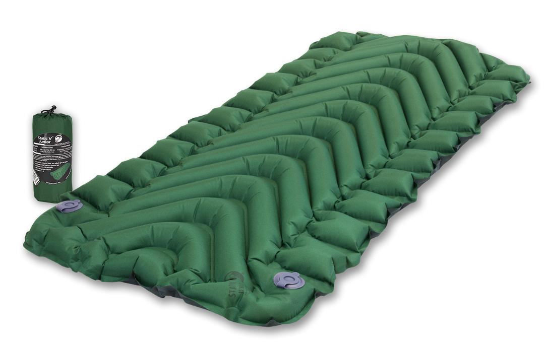 Коврик надувной Klymit  Static V Junior , цвет: зеленый - Туристические коврики