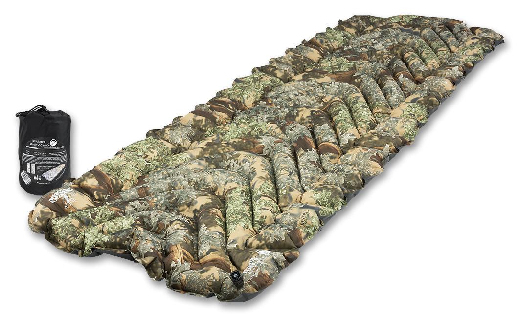 Надувной коврик Klymit  Insulated Static V Camo , цвет: камуфляж - Туристические коврики