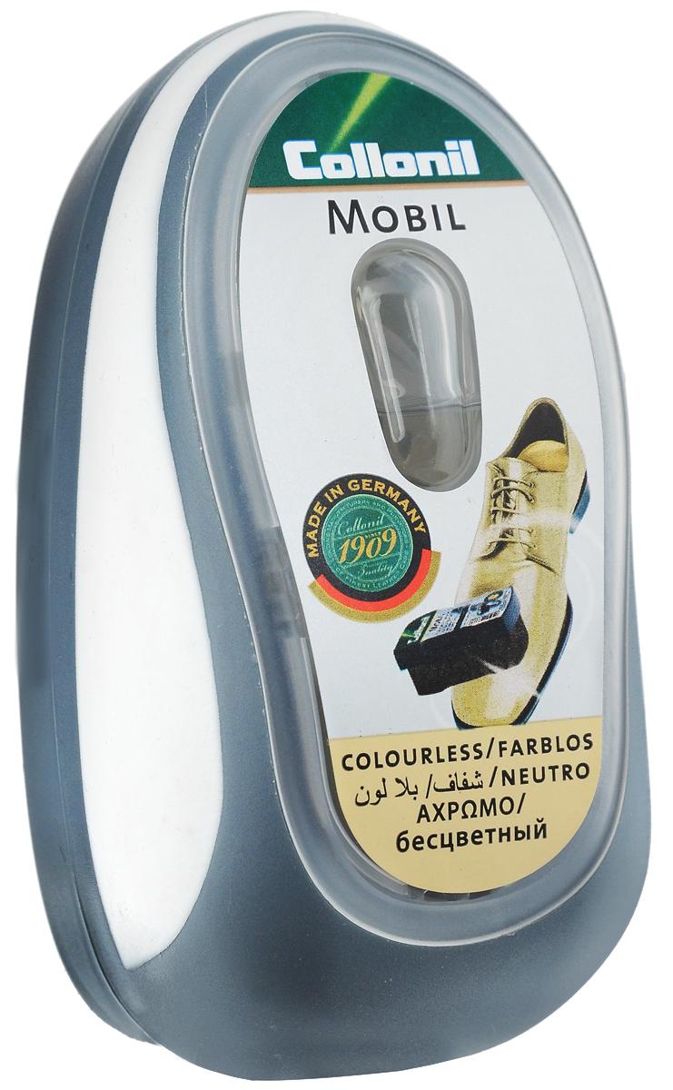 Губка для придания блеска обуви Collonil Mobil, цвет: бесцветныйIRK-503Губка Collonil Mobil предназначена для придания блеска и освежения цвета обуви и кожаной одежды. Удобная пластиковая коробка оснащена дозатором. Не требует полировки, максимальная эффективность сохраняется до 60 применений. Губка подходит для всех видов гладкой кожи. На крышке расположена резиновая вставка для удобного держания.Состав: пластик, резина, поролон, пропитка на основе силикона.