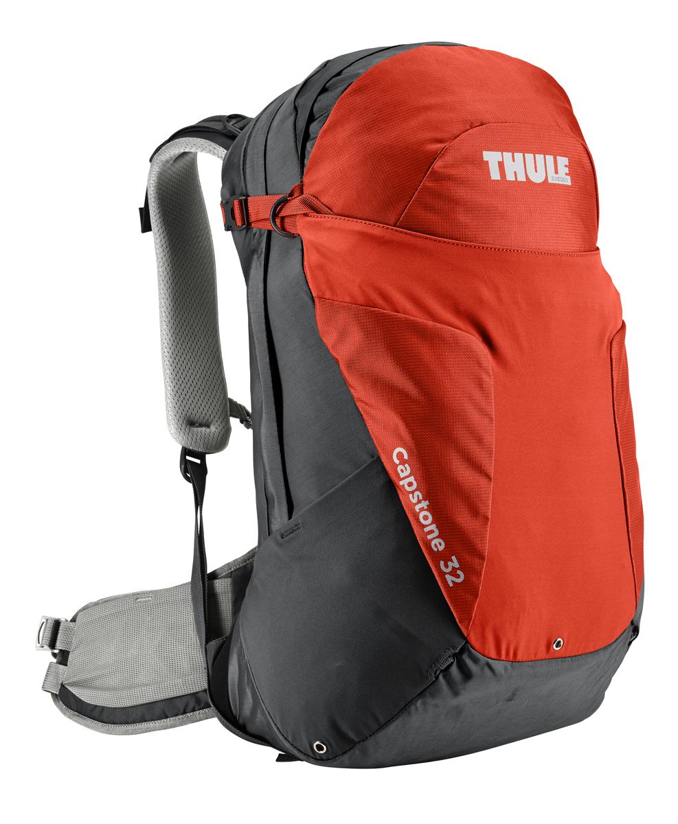 Рюкзак туристический мужской Thule Capstone, цвет: оранжевый, 32 л207104Мужской туристический рюкзак Thule Capstone подходит для путешествий на целый день, имеет регулируемую подвеску, воздухопроницаемую заднюю панель и вшитый дождевой чехол.Система крепления MicroAdjust позволяет отрегулировать ремень для торса на 10 см при надетом рюкзаке, чтобы добиться идеальной посадки.Сеточная задняя панель натягивается, обеспечивая превосходную воздухопроницаемость и позволяя вам не потеть и оставаться сухим в пути.Яркая съемная накидка от дождя обеспечивает сухость ваших принадлежностей во время ливнейРегулируемый поясной ремень совместим со взаимозаменяемыми аксессуарами VersaClick (продаются отдельно).С помощью держателя палок VersaClick, входящего в комплект поставки, можно удобно закрепить треккинговые палки на поясном ремне, не снимая рюкзак.Карман на молнии в верхней части рюкзака предназначен для хранения небольших предметов.В карман на поясном ремне можно положить еду, телефон или небольшие предметы.Эластичный карман Shove-it Pocket обеспечивает быстрый доступ к часто используемым предметам.Можно легко переместить снаряжение в переднюю часть рюкзака с помощью ремешка, продетого сквозь прочную петлю.Задние крепления для треккинговых палок и ледоруба можно убрать, если они не используются.