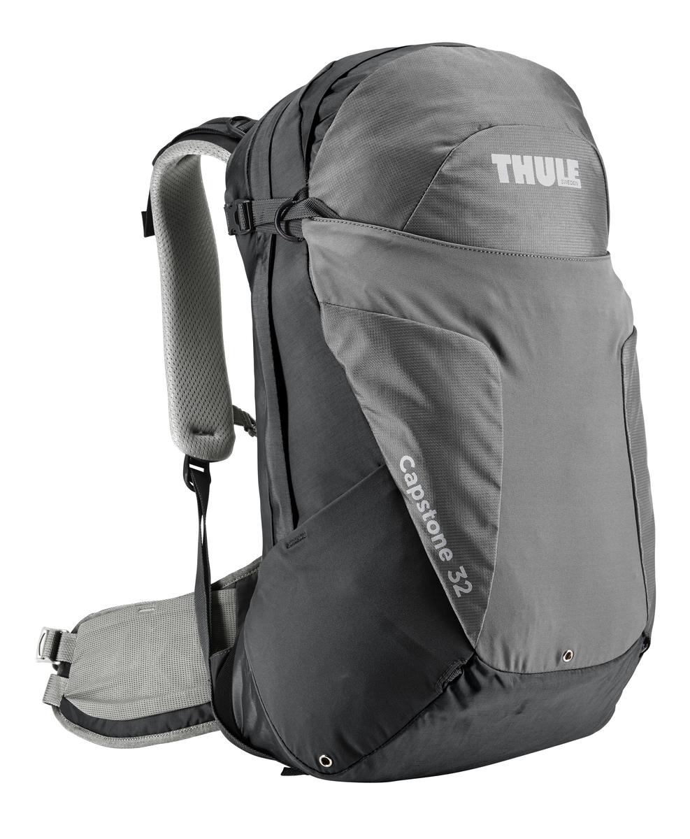 Рюкзак туристический мужской Thule Capstone, цвет: серый, 32 л67742Мужской туристический рюкзак Thule Capstone подходит для путешествий на целый день, имеет регулируемую подвеску, воздухопроницаемую заднюю панель и вшитый дождевой чехол.Система крепления MicroAdjust позволяет отрегулировать ремень для торса на 10 см при надетом рюкзаке, чтобы добиться идеальной посадки.Сеточная задняя панель натягивается, обеспечивая превосходную воздухопроницаемость и позволяя вам не потеть и оставаться сухим в пути.Яркая съемная накидка от дождя обеспечивает сухость ваших принадлежностей во время ливнейРегулируемый поясной ремень совместим со взаимозаменяемыми аксессуарами VersaClick (продаются отдельно).С помощью держателя палок VersaClick, входящего в комплект поставки, можно удобно закрепить треккинговые палки на поясном ремне, не снимая рюкзак.Карман на молнии в верхней части рюкзака предназначен для хранения небольших предметов.В карман на поясном ремне можно положить еду, телефон или небольшие предметы.Эластичный карман Shove-it Pocket обеспечивает быстрый доступ к часто используемым предметам.Можно легко переместить снаряжение в переднюю часть рюкзака с помощью ремешка, продетого сквозь прочную петлю.Задние крепления для треккинговых палок и ледоруба можно убрать, если они не используются.