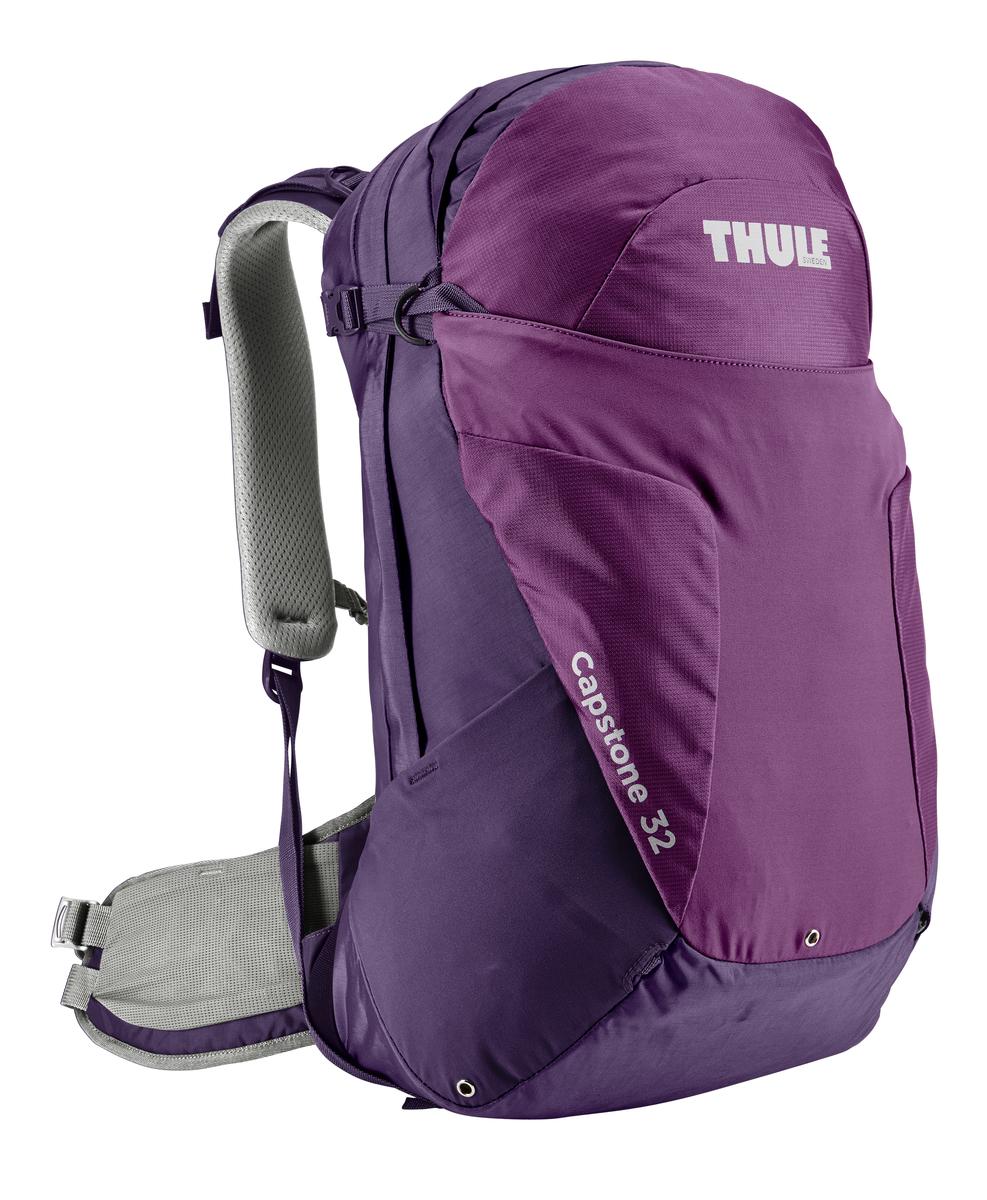 Рюкзак туристический женский Thule Capstone, цвет: фиолетовый, 32 л67742Женский туристический рюкзак Thule Capstone подходит для путешествий на целый день, имеет регулируемую подвеску, воздухопроницаемую заднюю панель и вшитый дождевой чехол.Система крепления MicroAdjust позволяет отрегулировать ремень для торса на 10 см при надетом рюкзаке, чтобы добиться идеальной посадки.Сеточная задняя панель натягивается, обеспечивая превосходную воздухопроницаемость и позволяя вам не потеть и оставаться сухим в пути.Яркая съемная накидка от дождя обеспечивает сухость ваших принадлежностей во время ливнейРегулируемый поясной ремень совместим со взаимозаменяемыми аксессуарами VersaClick (продаются отдельно).С помощью держателя палок VersaClick, входящего в комплект поставки, можно удобно закрепить треккинговые палки на поясном ремне, не снимая рюкзак.Карман на молнии в верхней части рюкзака предназначен для хранения небольших предметов.В карман на поясном ремне можно положить еду, телефон или небольшие предметы.Эластичный карман Shove-it Pocket обеспечивает быстрый доступ к часто используемым предметам.Можно легко переместить снаряжение в переднюю часть рюкзака с помощью ремешка, продетого сквозь прочную петлю.Задние крепления для треккинговых палок и ледоруба можно убрать, если они не используются.