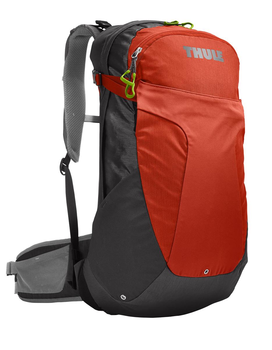 Рюкзак мужской Thule Capstone, цвет: оранжевый, серый, 22 л. Размер M/LKOC-H19-LEDМужской рюкзак Thule Capstone сочетает в себе современный дизайн, функциональность и долговечность. Он выполнен из прочного нейлона. Рюкзак содержит одно вместительное отделение, закрывающееся на застежку-молнию с двумя бегунками. Внутри располагается карман без застежки. На лицевой стороне рюкзака расположены 2 внешних кармана, один из которых закрывается на застежку-молнию и имеет текстильный ремешок с пластиковым карабином для ключей, другой закрепляется двумя застежками фастекс.По бокам рюкзака расположены два внешних кармана без застежки. А также карманы с застежкой-молнией на крышке и набедренном ремне для хранения солнцезащитных очков и других мелких предметов. Рюкзак дополнительно фиксируется на груди при помощи регулируемых по длине текстильных ремней с пластиковым карабином. Компрессионные стропы позволяют сжать рюкзак до нужного размера и предотвращают перемещение предметов внутри изделия.Такой рюкзак идеально подходит для пеших однодневных походов или коротких путешествий с ночевкой. Изделие снабжено системой крепления MicroAdjust, которая обеспечивает максимальную регулировку для идеальной посадки. Яркая съемная накидка от дождя обеспечивает сухость ваших принадлежностей во время ливней.