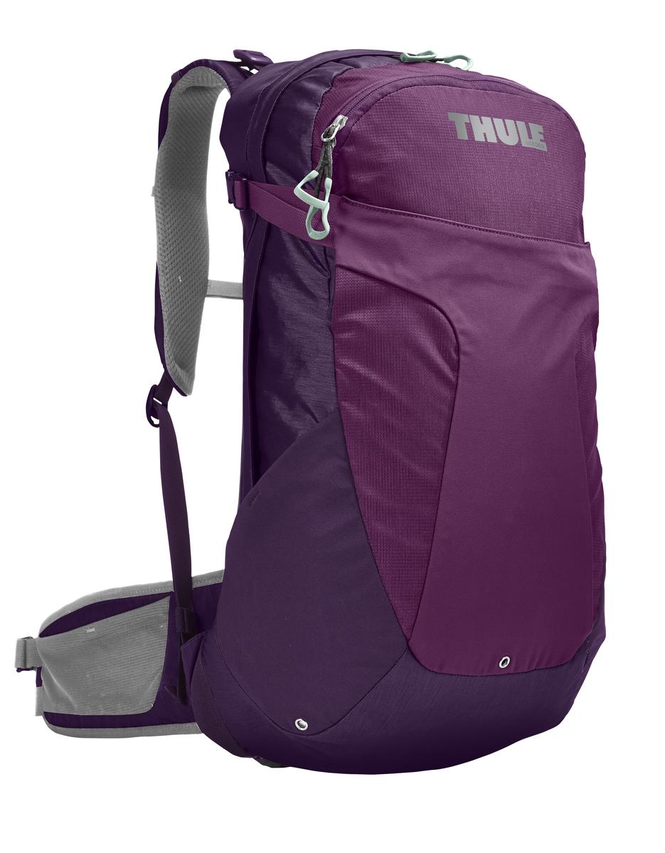 Рюкзак женский Thule Capstone, цвет: фиолетовый, сиреневый, серый, 22 л. Размер S/M206601Женский рюкзак Thule Capstone идеально подходит для однодневных путешествий или коротких походов. Рюкзак снабжен яркой накидкой от дождя и системой крепления MicroAdjust, которая обеспечивает максимальную регулировку для идеальной посадки. Сзади расположена натягиваемая сеточная панель для максимальной воздухопроницаемости. Рюкзак оснащен 1 вместительным отделением на застежке-молнии. Спереди имеется 2 кармана, один из которых на застежке-молнии. По бокам расположено 2 эластичных кармана. На набедренном ремне имеется 2 небольших кармана.