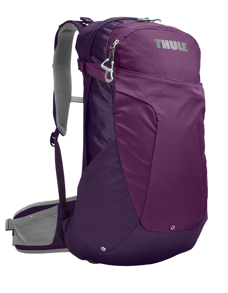 Рюкзак женский Thule Capstone, цвет: фиолетовый, сиреневый, серый, 22 л. Размер XS/S67742Женский рюкзак Thule Capstone идеально подходит для однодневных путешествий или коротких походов. Рюкзак снабжен яркой накидкой от дождя и системой крепления MicroAdjust, которая обеспечивает максимальную регулировку для идеальной посадки. Сзади расположена натягиваемая сеточная панель для максимальной воздухопроницаемости. Рюкзак оснащен 1 вместительным отделением на застежке-молнии. Спереди имеется 2 кармана, один из которых на застежке-молнии. По бокам расположено 2 эластичных кармана. На набедренном ремне имеется 2 небольших кармана.
