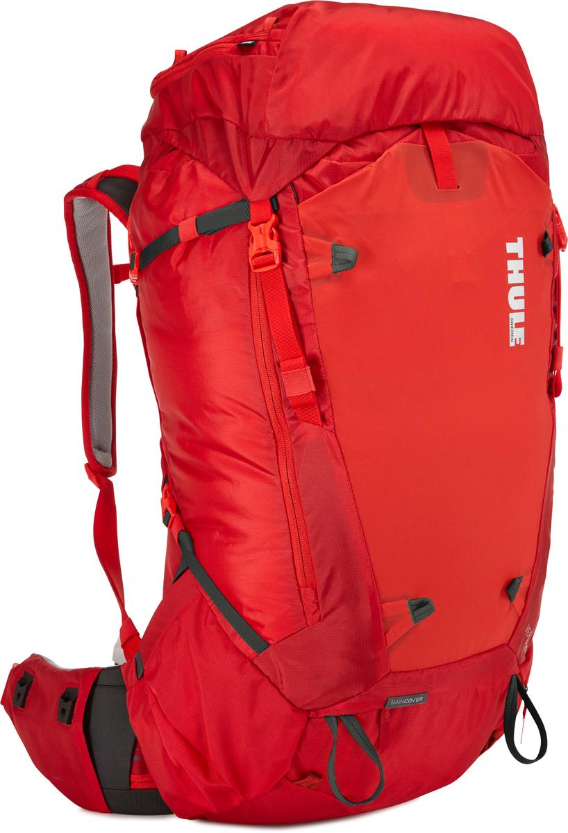 Рюкзак мужской Thule Versant, цвет: красный, 60 л67744Мужской туристический рюкзак Thule Versant 60 л - обладающий идеальным размером рюкзак для походов на 3–5 дней. Модель имеет дополнительные преимущества в виде регулируемого поясного ремня, легкодоступных карманов и верхнего клапана, который трансформируется в рюкзак с одной лямкой. Легко регулируется для идеальной посадки: по спине в пределах 12 см, поясной ремень — в диапазоне 10 см.Съемный водонепроницаемый сворачивающийся карман VersaClick защищает снаряжение от непогоды. Регулируемый поясной ремень совместим со взаимозаменяемыми аксессуарами VersaClick (продаются отдельно). Система StormGuard — это комбинация частичного дождевого чехла с водонепроницаемым нижним слоем для создания полностью защищенного от непогоды рюкзака. Конструкция StormGuard обеспечивает удобный доступ к снаряжению, препятствует проникновению влаги и более надежна, чем обычный дождевой чехол Удобный доступ к боковым карманам даже при надетом дождевом чехле. Верхняя крышка трансформируется в рюкзак с одной лямкой для горных прогулок. Большая панель с подковообразной молнией обеспечивает удобный доступ. Две петли-крепления для треккинговых палок или ледорубов. Передний карман Shove-it Pocket для быстрого доступа.