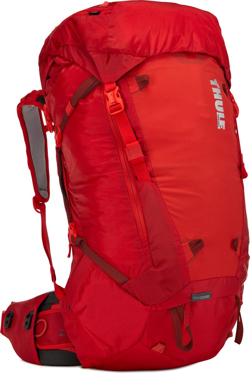 Рюкзак женский Thule Versant, цвет: красный, 60 л211203Женский туристический рюкзак Thule Versant 60 л - обладающий идеальным размером рюкзак для походов на 3-5 дней. Модель имеет дополнительные преимущества в виде регулируемого поясного ремня, легкодоступных карманов и верхнего клапана, который трансформируется в рюкзак с одной лямкой. Легко регулируется для идеальной посадки: по спине в пределах 12 см, поясной ремень - в диапазоне 10 см.Съемный водонепроницаемый сворачивающийся карман VersaClick защищает снаряжение от непогоды. Регулируемый поясной ремень совместим со взаимозаменяемыми аксессуарами VersaClick (продаются отдельно). Система StormGuard - это комбинация частичного дождевого чехла с водонепроницаемым нижним слоем для создания полностью защищенного от непогоды рюкзака. Конструкция StormGuard обеспечивает удобный доступ к снаряжению, препятствует проникновению влаги и более надежна, чем обычный дождевой чехол Удобный доступ к боковым карманам даже при надетом дождевом чехле. Верхняя крышка трансформируется в рюкзак с одной лямкой для горных прогулок. Большая панель с подковообразной молнией обеспечивает удобный доступ. Две петли-крепления для треккинговых палок или ледорубов. Передний карман Shove-it Pocket для быстрого доступа.