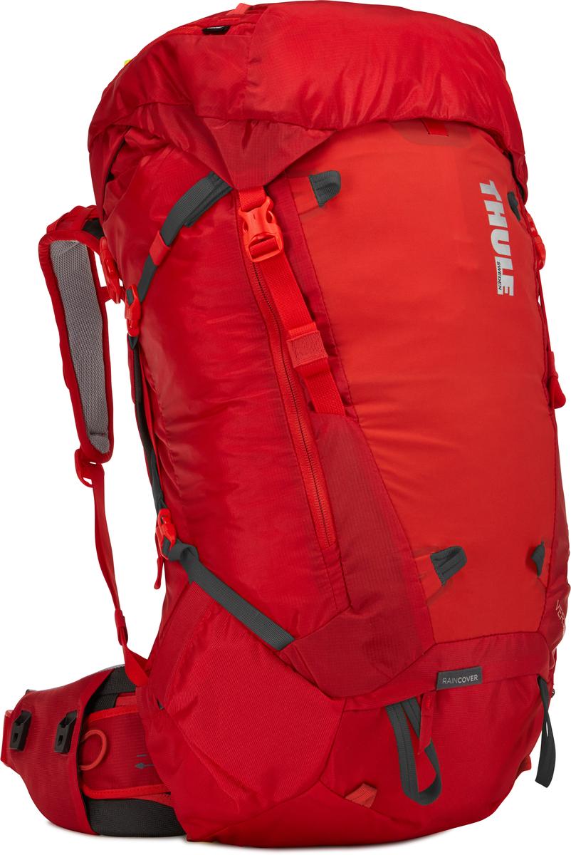 Рюкзак мужской Thule Versant, цвет: красный, 50 л211300Женский туристический рюкзак Thule Versant с объемом 50 л - легкий рюкзак, который обеспечивают необходимую вместительность, порядок и удобный доступ к снаряжению для походов с ночевкой. Легко регулируется для идеальной посадки: по спине в пределах 12 см, поясной ремень - в диапазоне 10 см. Съемный водонепроницаемый сворачивающийся карман VersaClick защищает снаряжение от непогоды. Регулируемый поясной ремень совместим со взаимозаменяемыми аксессуарами VersaClick (продаются отдельно). Система StormGuard - это комбинация частичного дождевого чехла с водонепроницаемым нижним слоем для создания полностью защищенного от непогоды рюкзака. Конструкция StormGuard обеспечивает удобный доступ к снаряжению, препятствует проникновению влаги и более надежна, чем обычный дождевой чехол Удобный доступ к боковым карманам даже при надетом дождевом чехле. Верхняя крышка трансформируется в рюкзак с одной лямкой для горных прогулок. Большая панель с подковообразной молнией обеспечивает удобный доступ. Две петли-крепления для треккинговых палок или ледорубов Передний карман Shove-it Pocket для быстрого доступа.