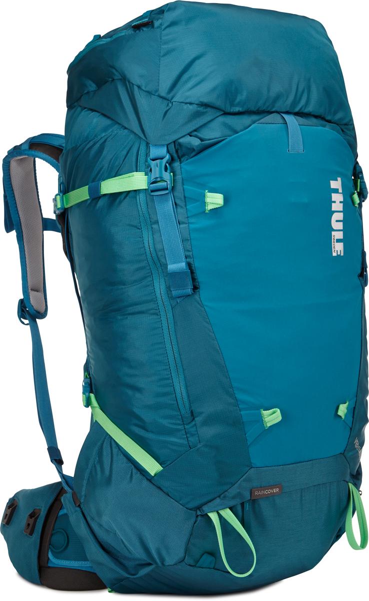 Рюкзак женский Thule Versant, цвет: синий, 50 л211302Женский туристический рюкзак Thule Versant с объемом 50 л - легкий рюкзак, который обеспечивают необходимую вместительность, порядок и удобный доступ к снаряжению для походов с ночевкой. Легко регулируется для идеальной посадки: по спине в пределах 12 см, поясной ремень - в диапазоне 10 см. Съемный водонепроницаемый сворачивающийся карман VersaClick защищает снаряжение от непогоды. Регулируемый поясной ремень совместим со взаимозаменяемыми аксессуарами VersaClick (продаются отдельно). Система StormGuard - это комбинация частичного дождевого чехла с водонепроницаемым нижним слоем для создания полностью защищенного от непогоды рюкзака. Конструкция StormGuard обеспечивает удобный доступ к снаряжению, препятствует проникновению влаги и более надежна, чем обычный дождевой чехол Удобный доступ к боковым карманам даже при надетом дождевом чехле. Верхняя крышка трансформируется в рюкзак с одной лямкой для горных прогулок. Большая панель с подковообразной молнией обеспечивает удобный доступ. Две петли-крепления для треккинговых палок или ледорубов Передний карман Shove-it Pocket для быстрого доступа.