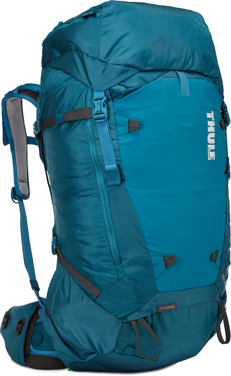 Рюкзак мужской Thule Versant, цвет: синий, 50 л67742Мужской туристический рюкзак Thule Versant с объемом 50 л - легкий рюкзак, который обеспечивают необходимую вместительность, порядок и удобный доступ к снаряжению для походов с ночевкой. Легко регулируется для идеальной посадки: по спине в пределах 12 см, поясной ремень - в диапазоне 10 см. Съемный водонепроницаемый сворачивающийся карман VersaClick защищает снаряжение от непогоды. Регулируемый поясной ремень совместим со взаимозаменяемыми аксессуарами VersaClick (продаются отдельно). Система StormGuard - это комбинация частичного дождевого чехла с водонепроницаемым нижним слоем для создания полностью защищенного от непогоды рюкзака. Конструкция StormGuard обеспечивает удобный доступ к снаряжению, препятствует проникновению влаги и более надежна, чем обычный дождевой чехол Удобный доступ к боковым карманам даже при надетом дождевом чехле. Верхняя крышка трансформируется в рюкзак с одной лямкой для горных прогулок. Большая панель с подковообразной молнией обеспечивает удобный доступ. Две петли-крепления для треккинговых палок или ледорубов Передний карман Shove-it Pocket для быстрого доступа.