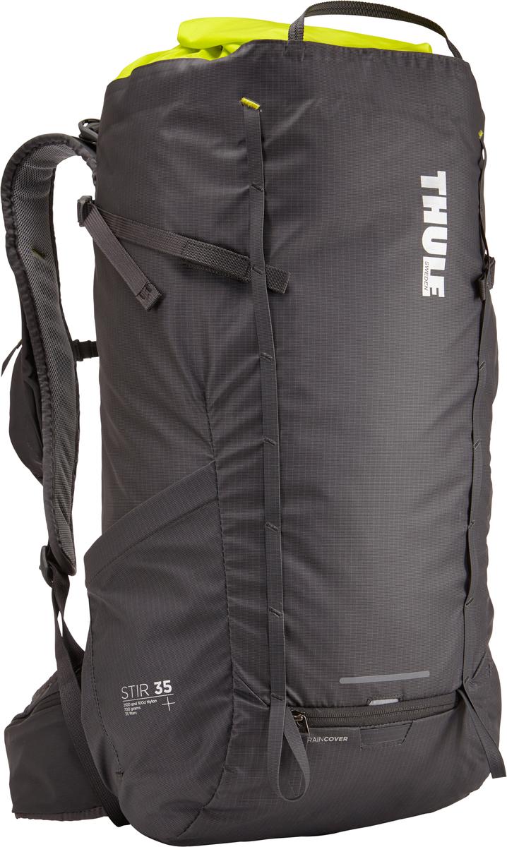 Рюкзак мужской Thule Stir 35L, цвет: темно-серый, 35 лKOC-H19-LEDМужской рюкзак для пеших путешествий Thule Stir с объемом 35 л. Благодаря простому и элегантному дизайну в сочетании с регулировкой рюкзака по спине, множеством легкодоступных карманов и дождевым чехлом этот рюкзак идеально подходит для более долгих дневных походов. Легкодоступная крышка с защитным откидным клапаном. Система StormGuard — это комбинация частичного дождевого чехла с водонепроницаемым нижним слоем для создания полностью защищенного от непогоды рюкзака. Конструкция StormGuard обеспечивает удобный доступ к снаряжению, препятствует проникновению влаги и более надежна, чем обычный дождевой чехол. Регулировка по спине в пределах 10 см обеспечивает идеальную посадку. Съемные поясной и нагрудный ремни для городского использования. Боковая молния для удобного доступа к снаряжению. Эластичный карман на плечевом ремне для хранения телефона и других небольших предметов. Точка крепления петли для фонаря и светоотражающий материал. Передний карман Shove-it Pocket для быстрого доступа. Две петли-крепления для треккинговых палок или ледорубов.