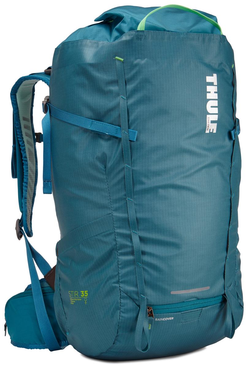 Рюкзак женский Thule Stir 35L, цвет: синий, 35 л67744Женский рюкзак для пеших путешествий Thule Stir с объемом 35 л. Благодаря простому и элегантному дизайну в сочетании с регулировкой рюкзака по спине, множеством легкодоступных карманов и дождевым чехлом этот рюкзак идеально подходит для более долгих дневных походов. Легкодоступная крышка с защитным откидным клапаном. Система StormGuard - это комбинация частичного дождевого чехла с водонепроницаемым нижним слоем для создания полностью защищенного от непогоды рюкзака. Конструкция StormGuard обеспечивает удобный доступ к снаряжению, препятствует проникновению влаги и более надежна, чем обычный дождевой чехол. Регулировка по спине в пределах 10 см обеспечивает идеальную посадку. Съемные поясной и нагрудный ремни для городского использования. Боковая молния для удобного доступа к снаряжению. Эластичный карман на плечевом ремне для хранения телефона и других небольших предметов. Точка крепления петли для фонаря и светоотражающий материал. Передний карман Shove-it Pocket для быстрого доступа. Две петли-крепления для треккинговых палок или ледорубов.