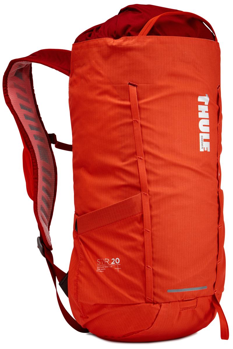 Рюкзак Thule Stir 20L, цвет: оранжевый, 20 л211501Рюкзак для пеших путешествий Thule Stir с объемом 20 л и легкодоступными карманами и идеальными для поездок или передвижения по городу отделениями. Легкодоступная крышка с защитным откидным клапаном. Съемный нагрудный ремень и поясной ремень, который можно спрятать за задней панелью при передвижении по городу. Эластичный карман на плечевом ремне для хранения телефона и других небольших предметов. Точка крепления петли для фонаря и светоотражающий материал. Внутренний сетчатый карман для удобного хранения. Передний карман Shove-it Pocket для быстрого доступа. Воздухопроницаемые задняя панель и наплечные ремни обеспечивают вентиляцию. Конструкция, предназначенная для хранения воды, включает карман для емкости с водой, отверстие для трубки и два боковых кармана для бутылок с водой (бутылки продаются отдельно).