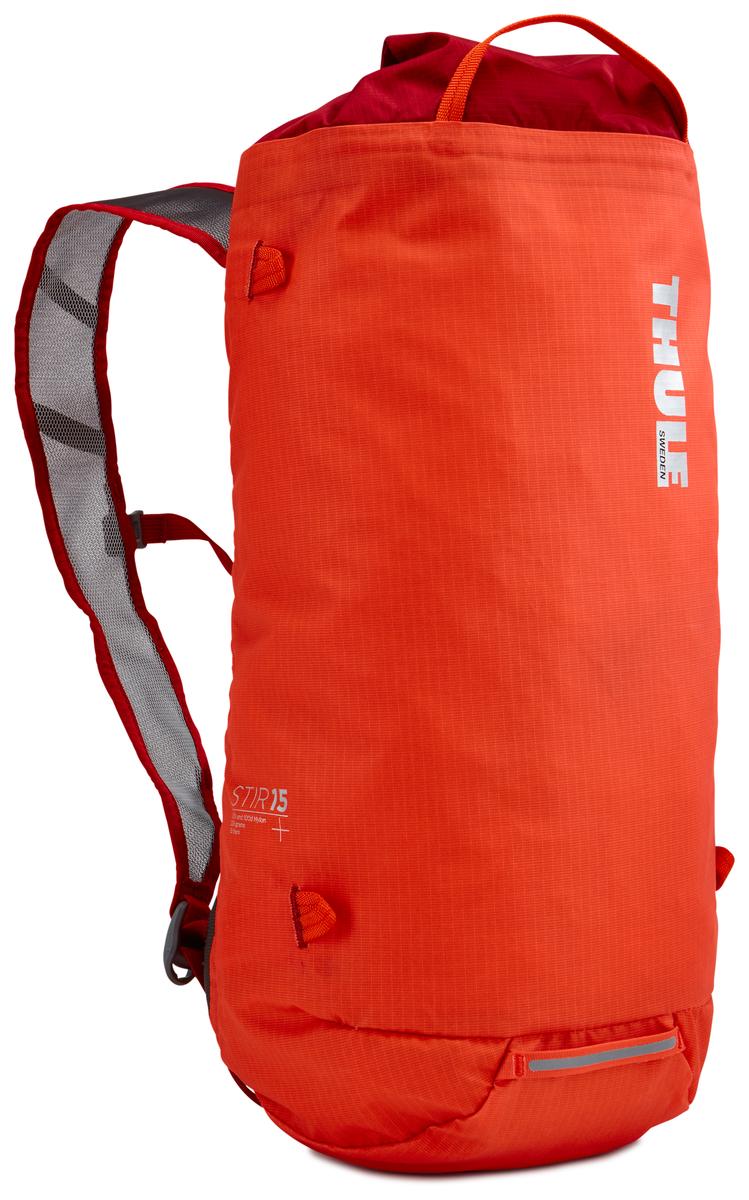 Рюкзак Thule Stir 15L, цвет: оранжевый, 15 л211601Рюкзак для пеших путешествий Thule Stir с объемом 15 л - это идеальный вариант для коротких прогулок и городских вылазок, когда можно путешествовать налегке. Легкодоступная крышка с защитным откидным клапаном. Съемный нагрудный ремень и поясной ремень, который можно спрятать за задней панелью при передвижении по городу. Точка крепления петли для фонаря и светоотражающий материал. Внутренний сетчатый карман для удобного хранения. Встроенные точки крепления для установки снаряжения сверху с помощью строп. Воздухопроницаемые задняя панель и наплечные ремни обеспечивают вентиляцию. Конструкция, предназначенная для хранения воды, включает зажим для емкости с водой с отверстием для трубки (емкость продается отдельно).