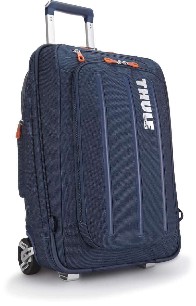 Чемодан-рюкзак Thule Crossover Carry-on, на колесах, цвет: темно-синий, 38 л3201503Чемодан-рюкзак на колесах Thule Crossover 56 см с убирающимися ремнями для переноски на плечах. Верхний карман с мягкой прокладкой подойдет для 15-дюймового MacBook Pro или ноутбука. С помощью потайных ремней вы сможете легко и быстро надеть сумку на плечи. Колеса не касаются спины, когда сумка-тележка используется как рюкзак, что обеспечивает чистоту и комфорт во время путешествия. Облегченный, но прочный материал также является водостойким. Надежный экзоскелет и задняя обшивка из полипропилена обеспечат надежную защиту во время путешествий в самых сложных условиях. Крепкие колеса увеличенного размера и телескопические ручки с технологией Thule V-Tubing гарантируют мягкое, плавное и ровное движение в течение многих лет. Изготовленное по технологии горячей прессовки ударопрочное отделение SafeZone защитит ваши солнечные очки, iPhone, портативную электронику и другие хрупкие вещи. Приподнятые направляющие обеспечивают дополнительную защиту сумки и ее содержимого. Ремень с петлей для присоединения дополнительной сумки. Главное отделение с отсеками поможет отделить чистое от грязного, мокрое от сухого и деловое от повседневного. Соответствует требованиям к ручной клади в большинстве авиакомпаний.