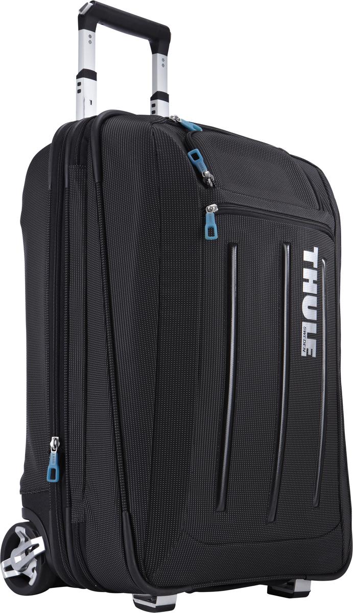 Чемодан на колесиках Thule Crossover с чехлом-органайзером для костюма, цвет: черный, 45лГризлиДля любого человека, проводящего много времени в бизнес-поездках, чемодан Thule Crossover на колесиках обеспечит максимальное удобство и вместит все необходимое оборудование. Съемный тройной небольшой чемодан и дополнительная сумка обеспечивают удобное расположение необходимых вещей, а прочные колеса и ручки гарантируют безопасную транспортировку. Изготовленное по технологии горячей прессовки ударопрочное отделение SafeZone защитит ваши очки, портативную электронику и другие хрупкие вещи (отделение запирается и может быть удалено для освобождения дополнительного места).Съемный тройной небольшой чемодан предоставит любителям бизнес-путешествий пространство для удобного хранения костюмов и предотвратит их сминание.Специальный замок-молния расширяет основное отделение на 5 см для укладки дополнительного багажа. Объемное внутреннее пространство поделено на отделы, а фиксирующий ремень надежно удерживает вещи на месте.Внутреннее отделение имеет два сетчатых кармана на молнии для хранения мелких вещей.Специальные ремни прикрепляют дополнительную походную сумку к вертикальной стойке, позволяя легко везти сумки одной рукой.Крепкие колеса увеличенного размера и телескопические ручки с технологией V-Tubing гарантируют мягкое, плавное и ровное движение в течение многих лет. Алюминиевый каркас и водостойкий материал делают эту сумку легкой, но прочной.Надежный экзоскелет и задняя обшивка из полипропилена обеспечат надежную защиту во время путешествий в самых сложных условиях.Верхние, нижние и боковые ручки обеспечивают ровную транспортировку и удобное размещение на верхних багажных полках.В переднем кармане удобно хранить кабели и шнуры, туалетные принадлежности или документы.Размер чемодана: 39 x 23 x 58 см.