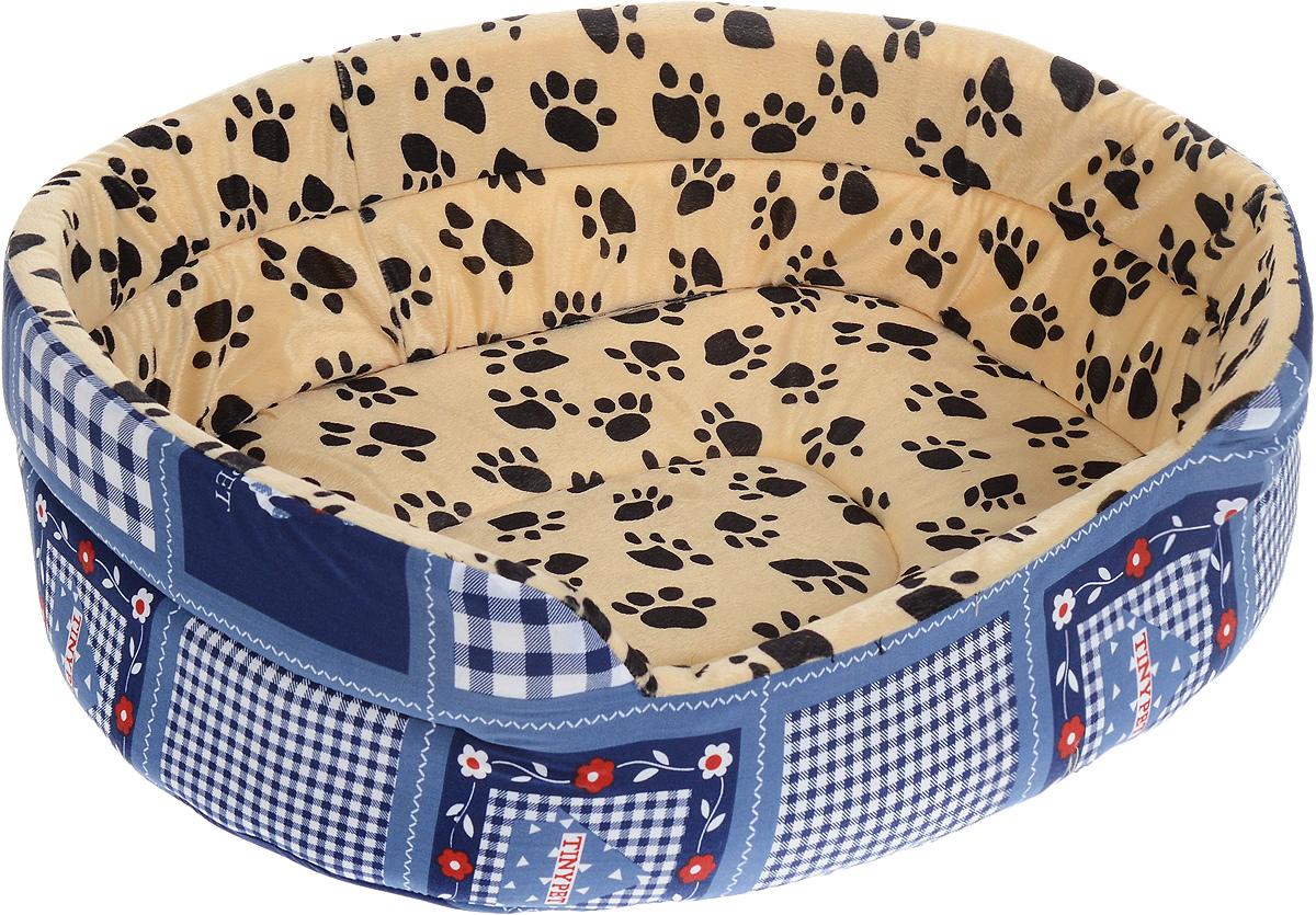 Лежак для животных Каскад Лапки. №5, 62 х 52 х 20 см. 91002812 игрушка для животных каскад гамбургер диаметр 7 5 см