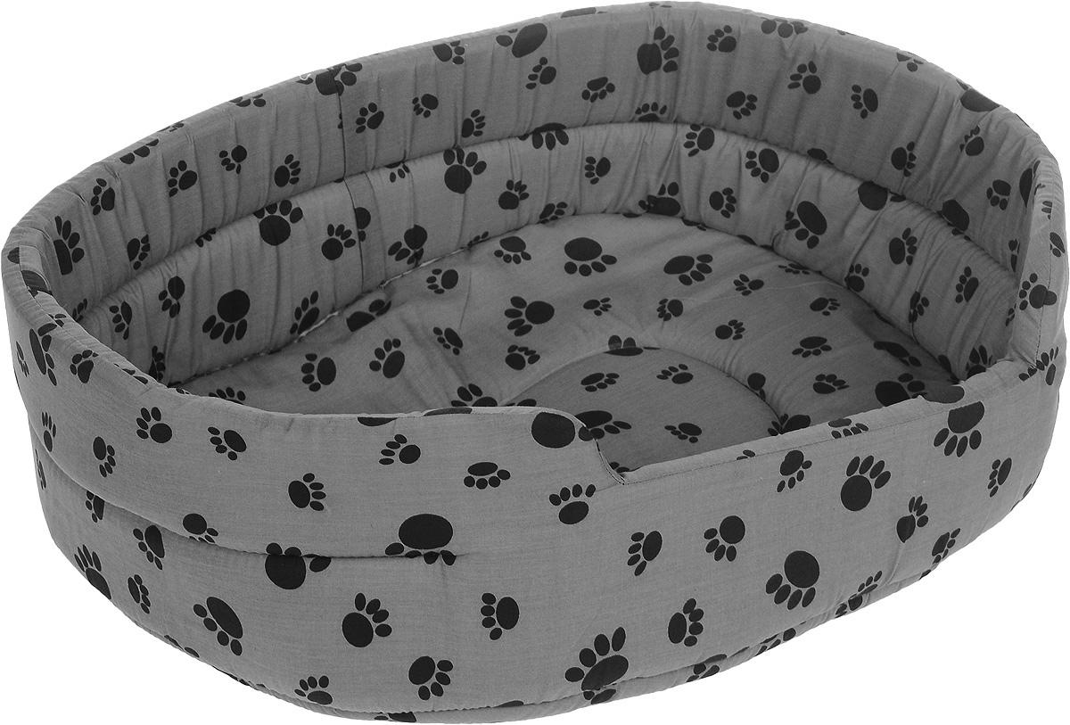 Лежак для животных Каскад Лапки. №4, 56 х 46 х 18 см игрушка для животных каскад барабан с колокольчиком 4 х 4 х 4 см