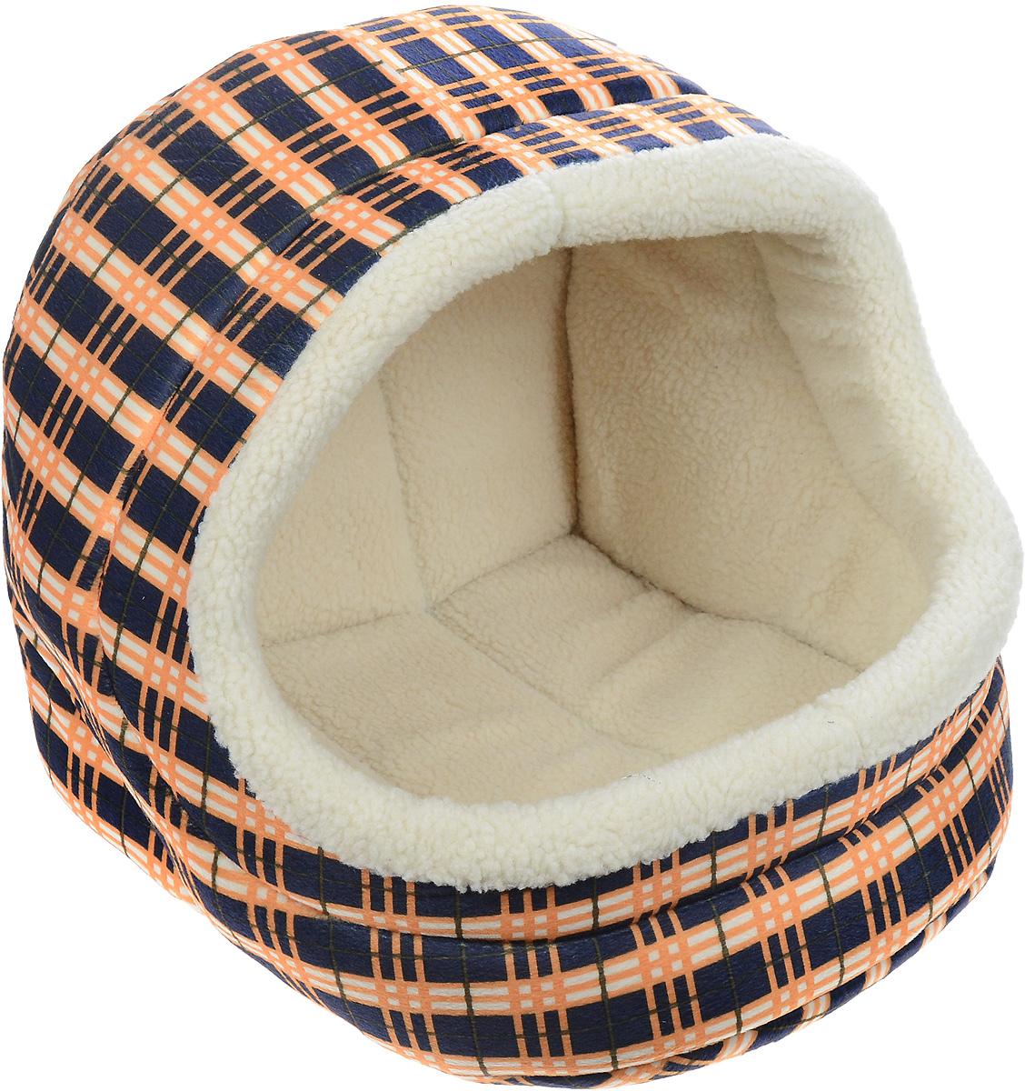 Домик для животных Каскад Клетка. №3, 45 х 40 х 40 см12171996Домик для животных Каскад Клетка. №3, выполненный из высококачественного текстиля, обязательно понравится вашему питомцу. Домик предназначен для собак и кошек. Он очень удобный и уютный. Ваш любимец обязательно захочет забраться в этот домик, как только его увидит. Компактные размеры позволят поместить домик где угодно, а приятная цветовая гамма сделает его оригинальным дополнением любого интерьера.