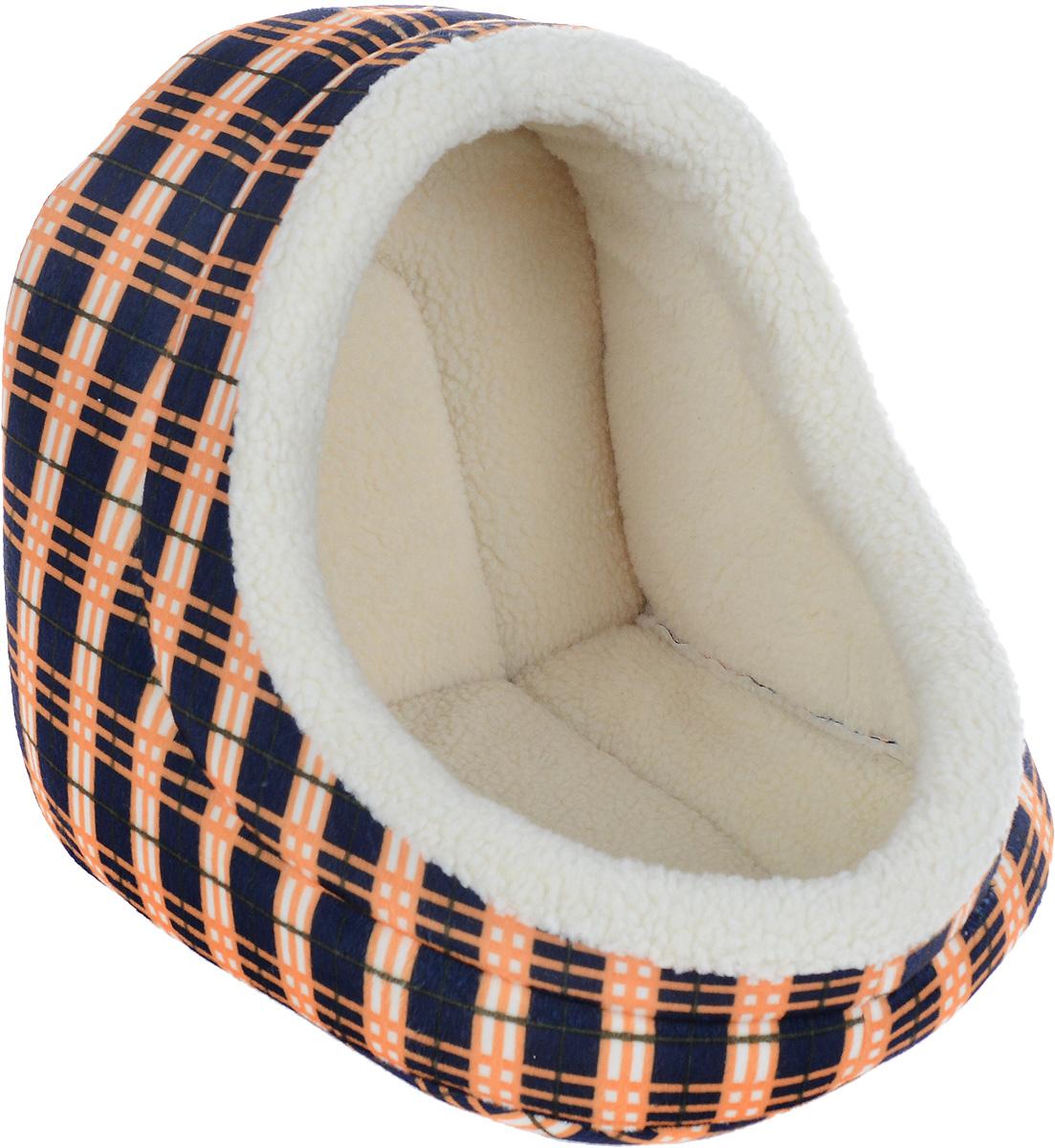 Домик для животных Каскад Клетка. №2, 38 х 35 х 34 см0120710Домик для животных Каскад Клетка. №2, выполненный из высококачественного текстиля, обязательно понравится вашему питомцу. Домик предназначен для собак и кошек. Он очень удобный и уютный. Ваш любимец обязательно захочет забраться в этот домик, как только его увидит. Компактные размеры позволят поместить домик где угодно, а приятная цветовая гамма сделает его оригинальным дополнением любого интерьера.