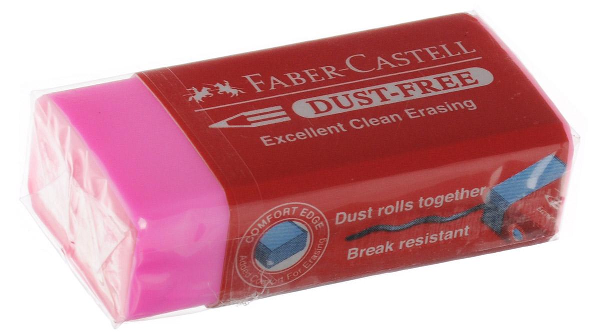 Faber-Castell Ластик Dust-Free цвет розовыйFS-36055Ластик Faber-Castell Dust-Free станет незаменимым аксессуаром на рабочем столе не только школьника или студента, но и офисного работника. Аккуратный и не оставляет грязных разводов. Кроме того высококачественный ластик не повреждает бумагу даже при многократном стирании.