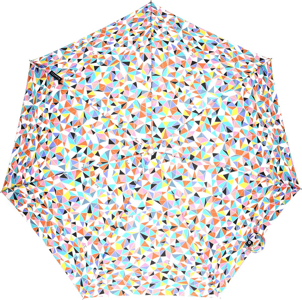 Bisetti 35165-3 Зонт полный автом. 3 сл. жен.П250070003-9Зонт испанского производителя Clima. В производстве зонтов используются современные материалы, что делает зонты легкими, но в то же время крепкими.Полный автомат, 3 сложения, 8 спиц по 54см, полиэстер.