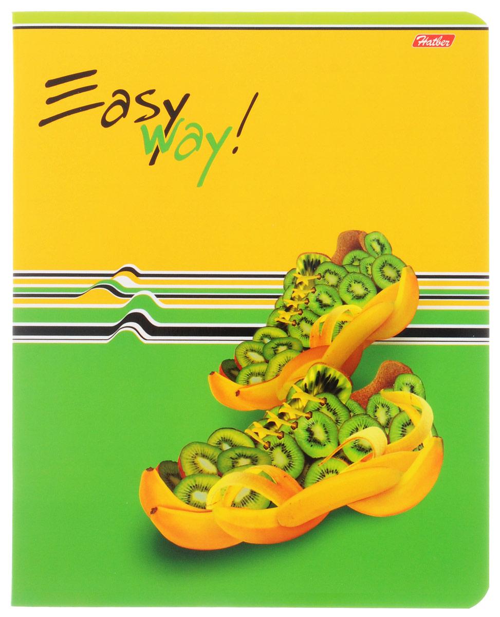 Hatber Тетрадь Фруктово-ягодный шик 48 листов в клетку цвет желтый зеленый48Т5В1_05284Тетрадь Hatber Фруктово-ягодный шик отлично подойдет для занятий школьнику, студенту, а также для различных записей.Обложка, выполненная из плотного картона, позволит сохранить тетрадь в аккуратном состоянии на протяжении всего времени использования. Обложка украшена изображением обуви из фруктов и ягод.Внутренний блок тетради, соединенный двумя металлическими скрепками, состоит из 48 листов белой бумаги. Стандартная линовка в клетку голубого цвета дополнена полями, совпадающими с лицевой и оборотной стороны листа. В верхнем углу каждой странички находится разделенное точками место для даты, в нижнем - пустые квадратики для номеров страниц.
