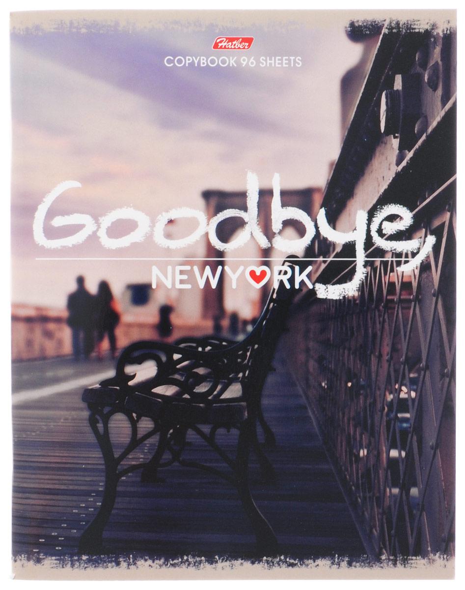 Hatber Тетрадь Goodbye New York 96 листов в клетку72523WDТетрадь Hatber Goodbye, New York формата A5 подойдет как школьнику, так и студенту.Обложка выполнена из плотного картона, что позволит сохранить тетрадь в аккуратном состоянии на протяжении всего времени использования. Лицевая сторона оформлена надписью Goodbye, New York и стильной фотографией города.Внутренний блок тетради, соединенный двумя металлическими скрепками, состоит из 96 листов белой бумаги. Стандартная линовка в клетку голубого цвета дополнена полями. В верхнем углу каждой странички находится разделенное точками место для даты, в нижнем - пустые квадратики для номеров страниц.