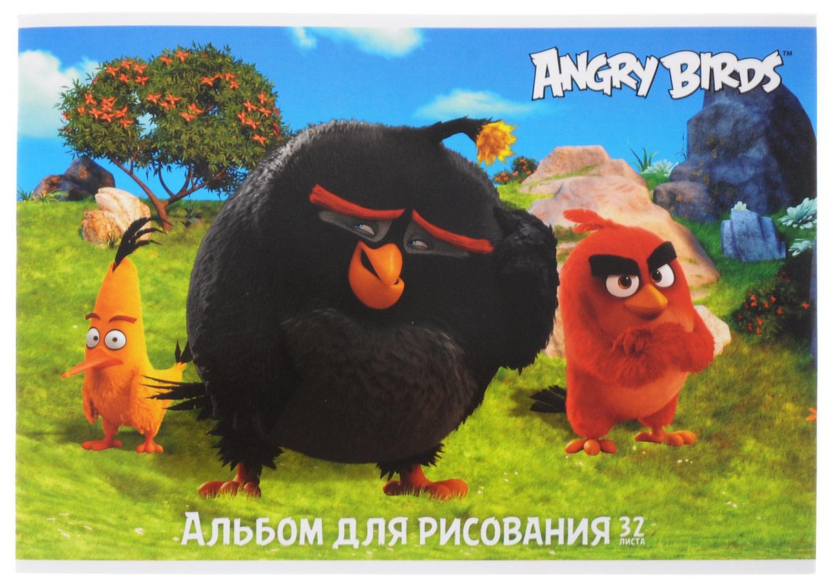 Hatber Альбом для рисования Angry Birds 32 листа 153142010440Альбом для рисования Hatber Angry Birds непременно порадует маленького художника и вдохновит его на творчество.Альбом изготовлен из белоснежной бумаги с яркой обложкой из плотного картона, оформленной изображением героев популярной игры Angry Birds. Внутренний блок альбома состоит из 32 листов бумаги. Способ крепления - металлические скрепки. Высокое качество бумаги позволяет рисовать в альбоме карандашами, фломастерами, акварельными и гуашевыми красками.