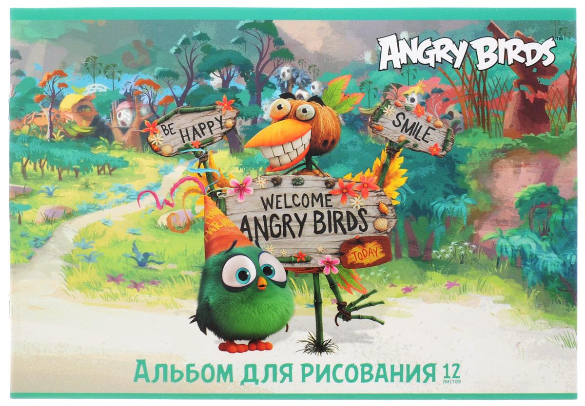 Hatber Альбом для рисования Angry Birds 12 листов 153522010440Альбом для рисования Hatber Angry Birds непременно порадует маленького художника и вдохновит его на творчество.Альбом изготовлен из белоснежной бумаги с яркой обложкой из плотного картона, оформленной изображением персонажей мультфильма по мотивам популярной игры Angry Birds. Внутренний блок альбома состоит из 12 плотных листов. Способ крепления - металлические скрепки. Высокое качество бумаги позволяет рисовать в альбоме карандашами, фломастерами, акварельными и гуашевыми красками.