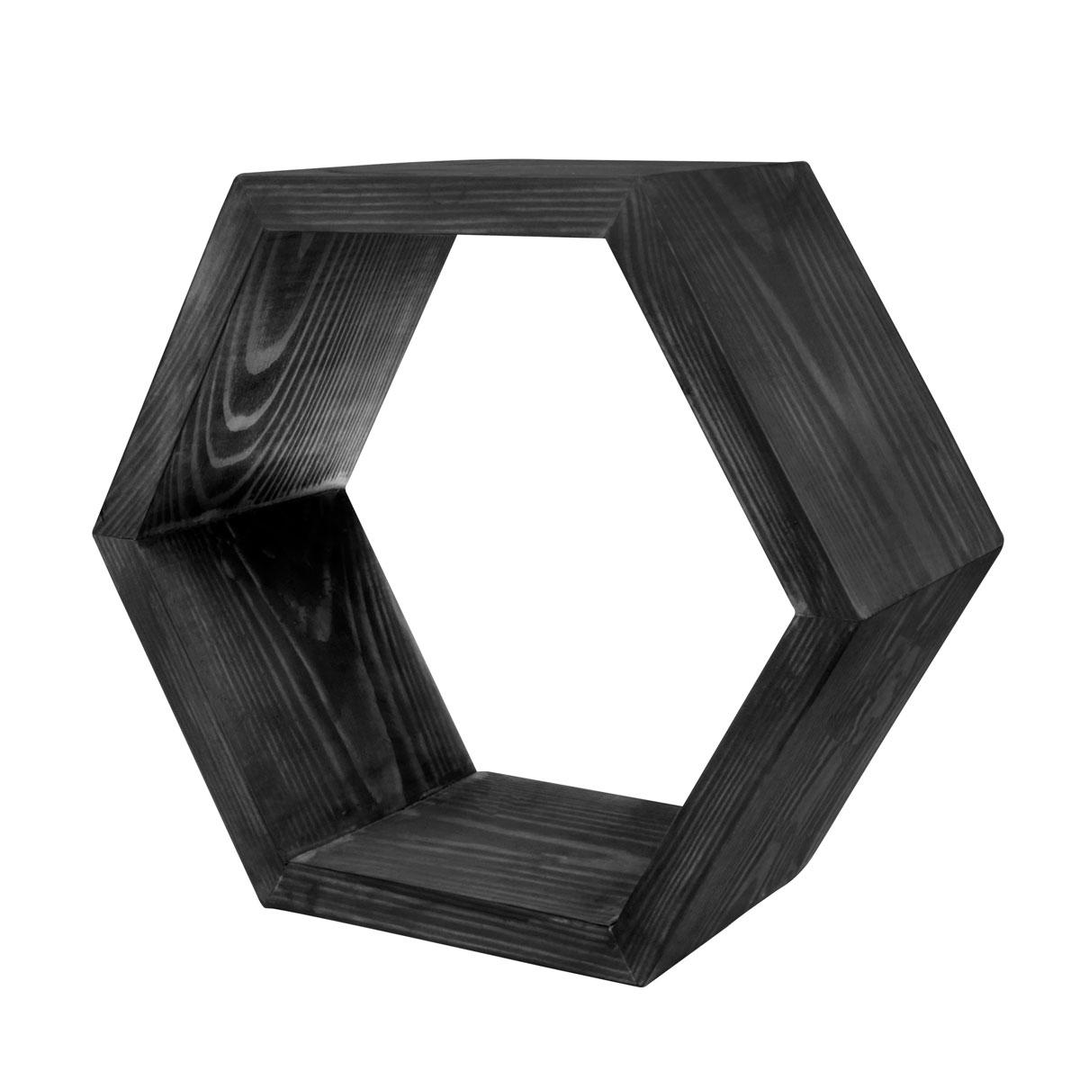 Декоративная полка EcoWoo 40 см, цвет: черныйCM000001327Оригинальные деревянные полки шестигранники. Отличное решение для декорирования комнаты. Несколько полок можно складывать в причудливые сочетания, ограниченные только вашей фантазией. Любой цвет и размер. Станьте креативными дизайнерами своего жилого пространства!