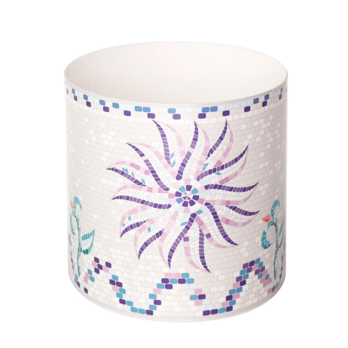 Горшок для цветов Miolla Мозаика белая, со скрытым поддоном, 1,7 лZ-0307Горшок для цветов Miolla Мозаика белая со скрытым поддоном выполнен из пластика и декорирован красочным рисунком.Диаметр горшка: 13,5 см.Высота горшка (с учетом поддона): 13,5 см.Объем горшка: 1,7 л.