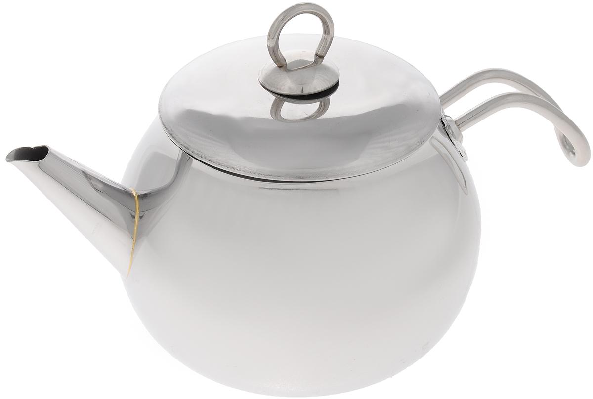 Чайник МИКА Стандарт, 1,8 л115510Чайник МИКА Стандарт изготовлен из высококачественной нержавеющей стали и оснащен удобной фиксированной ручкой.Эстетичный и функциональный, с эксклюзивным дизайном, чайник будет оригинально смотреться в любом интерьере.Подходит для всех типов плит, включая индукционные. Можно мыть в посудомоечной машине.Высота чайника (без учета ручки и крышки): 11 см.Высота чайника (с учетом ручки и крышки): 17 см.Диаметр чайника (по верхнему краю): 12 см.