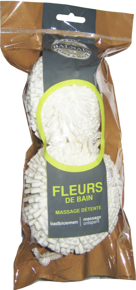 Balnais Мочалки для тела цветочный дизайн750_бирюзовыйИдеально подходят для мягкого очищения и массажа тела.
