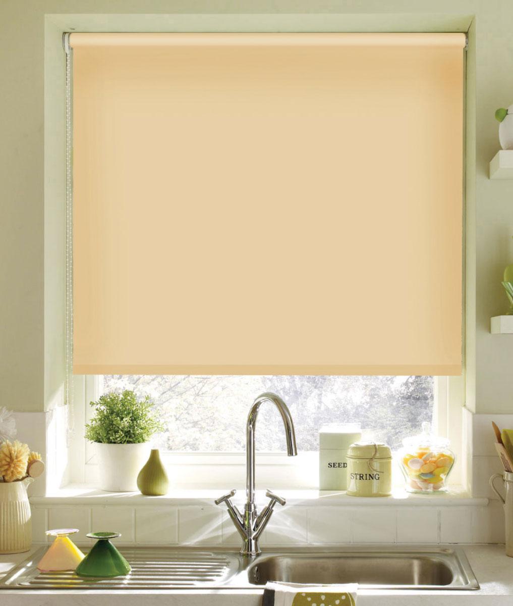 Штора рулонная KauffOrt Миниролло, цвет: светлый абрикос, ширина 43 см, высота 170 смK100Рулонная штора KauffOrt Миниролло выполнена из высокопрочной ткани, которая сохраняет свой размер даже при намокании. Ткань не выцветает и обладает отличной цветоустойчивостью.Миниролло - это подвид рулонных штор, который закрывает не весь оконный проем, а непосредственно само стекло. Такие шторы крепятся на раму без сверления при помощи зажимов или клейкой двухсторонней ленты (в комплекте). Окно остается на гарантии, благодаря монтажу без сверления. Такая штора станет прекрасным элементом декора окна и гармонично впишется в интерьер любого помещения.