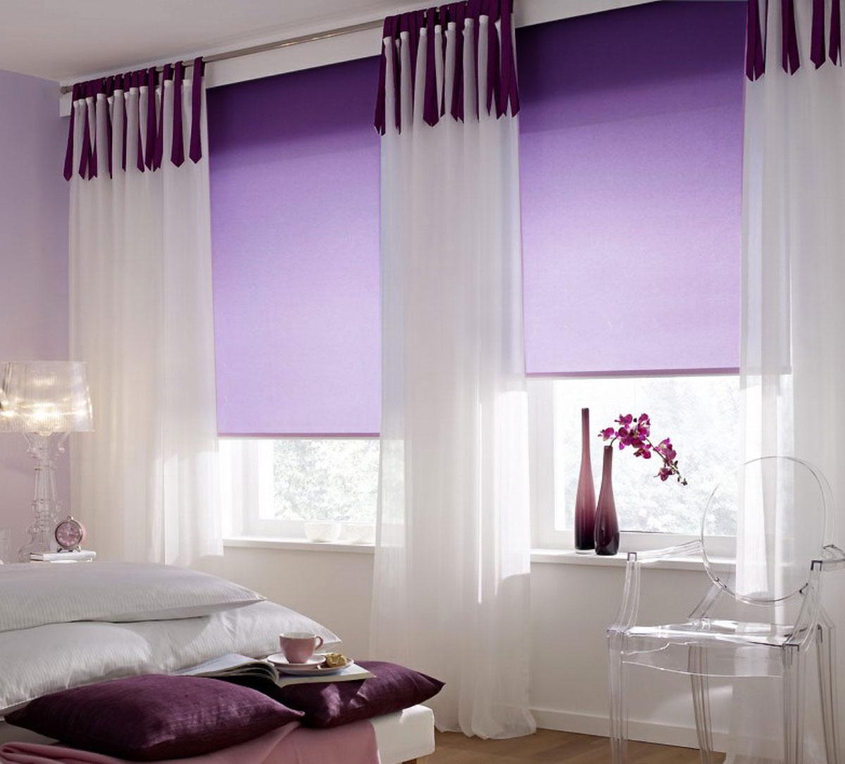 Штора рулонная KauffOrt Миниролло, цвет: фиолетовый, ширина 115 см, высота 170 смGC013/00Рулонная штора Миниролло выполнена из высокопрочной ткани, которая сохраняет свой размер даже при намокании. Ткань не выцветает и обладает отличной цветоустойчивостью.Миниролло - это подвид рулонных штор, который закрывает не весь оконный проем, а непосредственно само стекло. Такие шторы крепятся на раму без сверления при помощи зажимов или клейкой двухсторонней ленты (в комплекте). Окно остается на гарантии, благодаря монтажу без сверления. Такая штора станет прекрасным элементом декора окна и гармонично впишется в интерьер любого помещения.