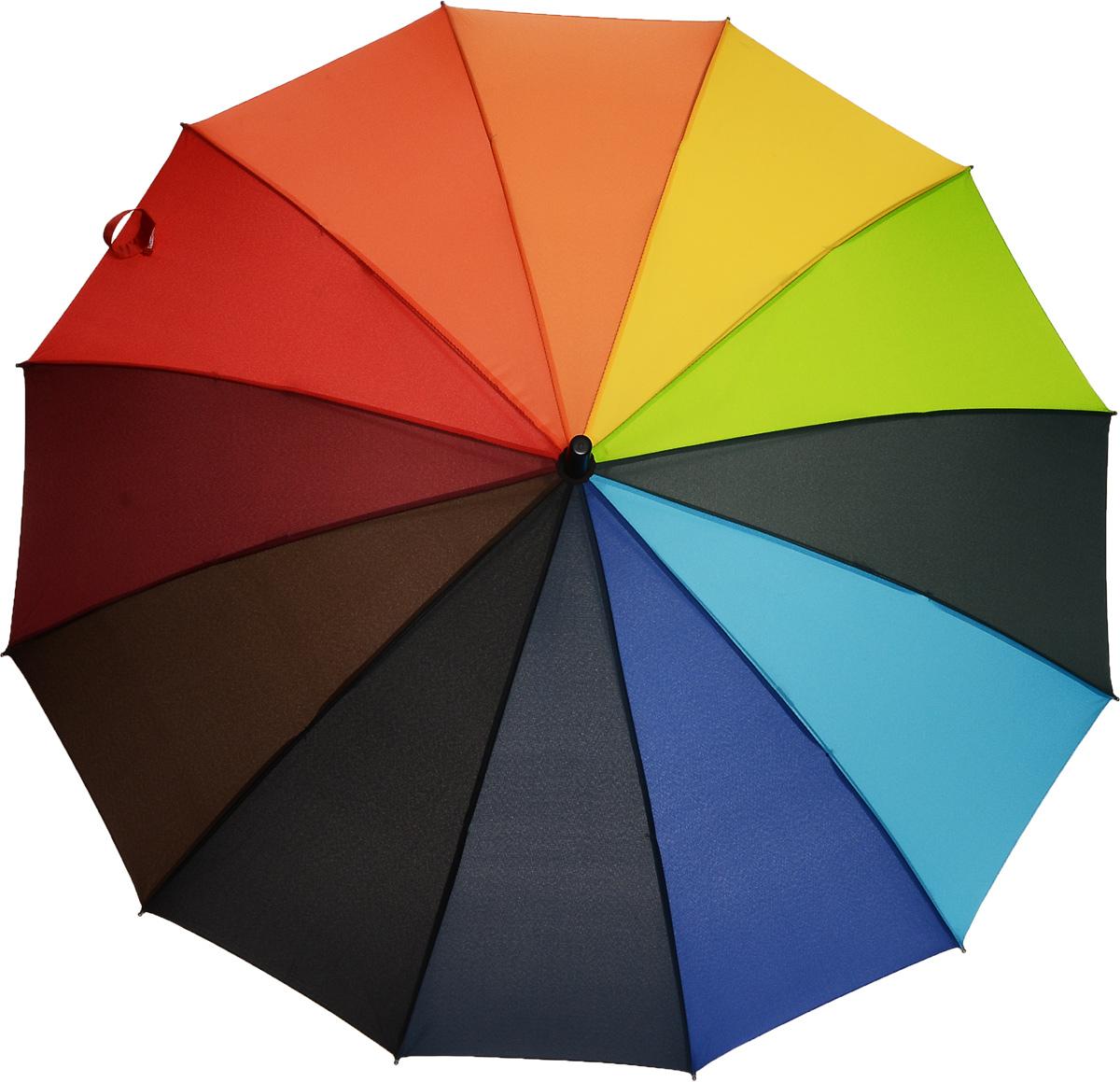 Зонт-трость женский Эврика Радуга, цвет: мультицвет. 91050K50K503414_0010Яркий полуавтоматический зонт-трость порадует своим оригинальным принтом даже в ненастную погоду.Купол зонтавыполнен из полиэстера с водоотталкивающей пропиткой, каркас содержит 12 спиц и оснащен системой анти-ветер. Эргономичная рукоятка дополнена петлей для подвешивания.Практичный зонт Эврика выполнен для жизнерадостных и активных людей!