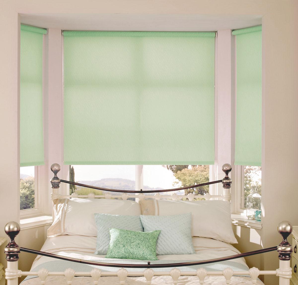 Штора рулонная KauffOrt Миниролло, цвет: светло-зеленый, ширина 115 см, высота 170 см