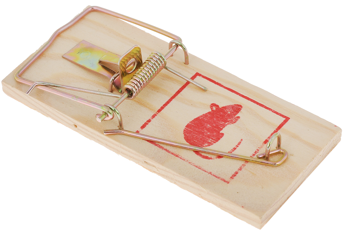 Мышеловка Mr.Mouse, 10 х 4,5 смСЗ.040018Деревянная механическая ловушка Mr.Mouse используется для отлова крыс и мышей в жилых и нежилых помещениях, на прилегающих к ним территориях, в подвалах и погребах. Изделие высокоэффективно, гигиенично, легко приводится в состояние готовности. Способ применения: Положите в ловушку приманку и установите мышеловку на ровной поверхности приманкой к стене. Павшего грызуна легко удалить из ловушки: не прикасаясь к крысе, ослабьте двумя пальцами зажим. После удаления погибшего грызуна промойте ловушку под струей воды и просушите. Вложите в крысоловку свежую приманку, и ловушка вновь готова к применению.Рекомендуемые приманки: сыр, хлеб, шоколад, изюм. Меняйте расположение расставленных ловушек, так как крысы и мыши запоминают место опасности.