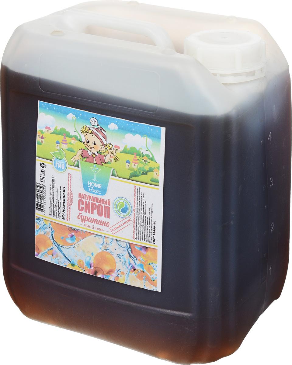 Home Bar Буратино натуральный сироп, 5 лДТ_0930Сироп Home Bar Буратино– один из наиболее известных сиропов для приготовления газированныхбезалкогольных прохладительных напитков в советские времена. Газированные напитки на основе сиропаБуратино обретают былую популярность, по так называемым вкусам детства: неповторимому кисло-сладкомувкусу Буратино. Он сохраняет свой традиционный вкус и высокое качество. Прекрасно тонизируют и утоляютжажду.Для приготовления 40 литров напитка.Сиропы Home Bar произведены из натурального сырья в России в Кабардино-Балкарии.
