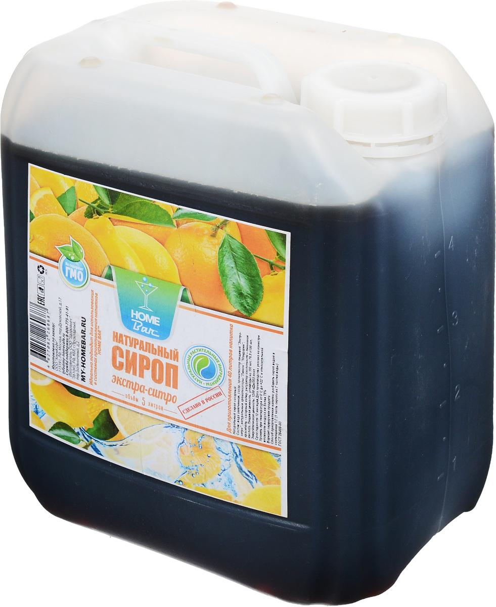 Home Bar Экстра-ситро натуральный сироп, 5 л
