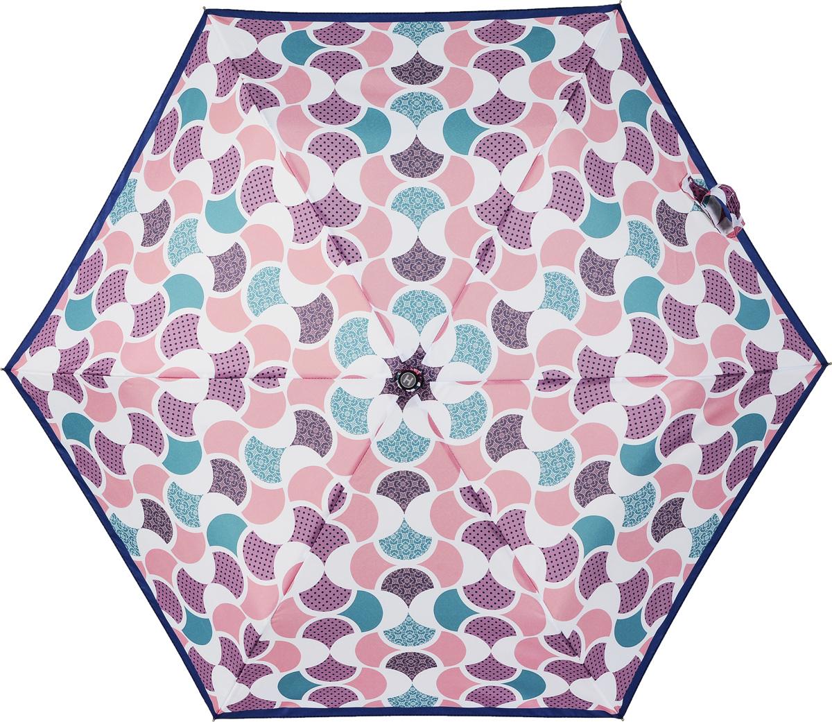 Зонт женский Henry Backer, 3 сложения, цвет: розовый. U32203 Good moodКолье (короткие одноярусные бусы)Суперлегкий женский зонт «Хорошее настроение», механикаРучка выполнена из нескользящего материала, ветроустойчивый каркас – из алюминия и фибергласса.