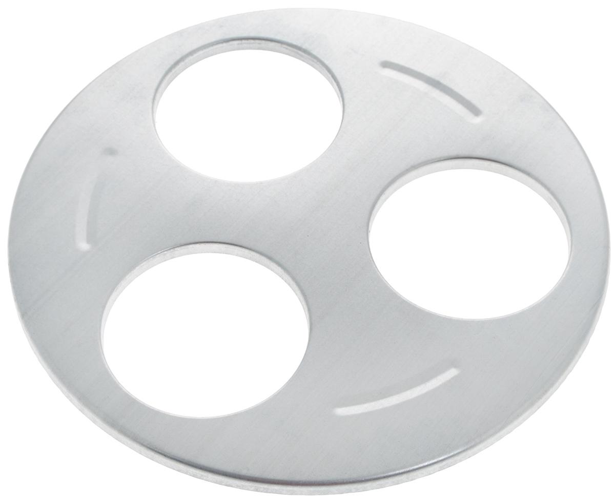 Приспособление 3М, для стерилизации 3 банок4612750750096Приспособление 3М, изготовленное из алюминия, предназначено для быстрой и эффективной стерилизации сразу трех банок. Спелые помидоры, сочные огурцы и перцы или сладкий джем и ароматное варенье - лучшие источники витаминов в холодное время года!Диаметр отверстия для банки: 8,5 см.Диаметр приспособления: 26 см.