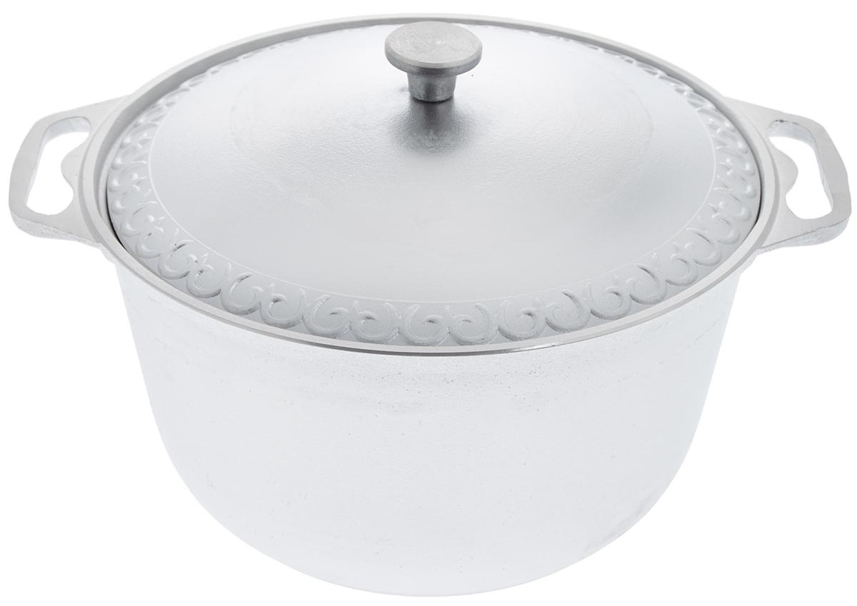 Кастрюля Катюша с крышкой, 8 л54 009312Кастрюля Катюша, выполненная из литого алюминия, позволит вам приготовить вкуснейшие блюда. Обычно такие кастрюли используют для варки каш либо овощей. Благодаря хорошей теплопроводности алюминия, молоко или вода закипают в них быстрее, чем в эмалированных кастрюлях.Данная кастрюля отличается долговечностью и легкостью. Подходит для всех видов плит, кроме индукционных. Не рекомендуется мыть в посудомоечной машине. Высота стенки: 16,5 см. Ширина кастрюли (с учетом ручек): 37,5 см. Диаметр кастрюли (по верхнему краю): 30 см. Диаметр основания: 21,5 см.