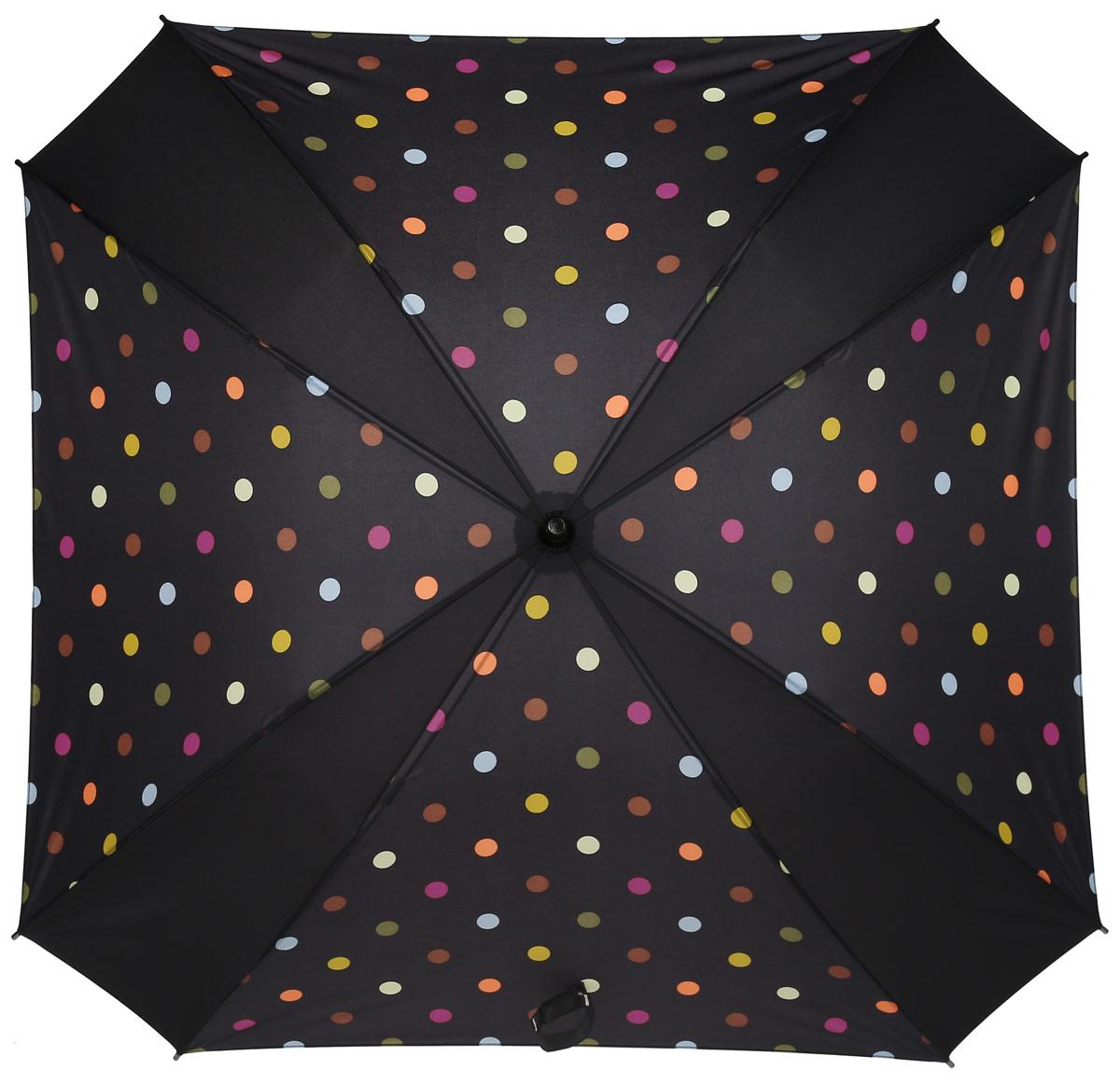 Зонт-трость женский Reisenthel, цвет: черный. YM700945100738/18076/4D00NНи снег, ни проливной дождь не страшны, когда с вами ваш надежный друг - красивый зонт-трость. А надежен он благодаря своей инновационной форме в виде октагона - фигуры с 8 углами. У зонта гибкие спицы со специальными пружинами, которые не сломаются. При сильном ветре зонт просто вывернется наизнанку. А вот острый наконечник и ручка, которая позволяет повесить зонт - самые что ни на есть классические, удобные и красивые. Чтобы просушить его, просто оставьте открытым (пожалуйста, не сворачивайте зонт, пока он мокрый).