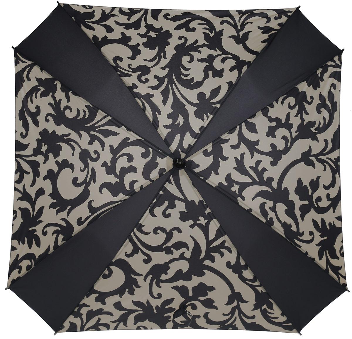 Зонт-трость женский Reisenthel, цвет: бежевый, черный. YM7027CX1516-50-10Ни снег, ни проливной дождь не страшны, когда с вами ваш надежный друг - красивый зонт-трость. А надежен он благодаря своей инновационной форме в виде октагона - фигуры с 8 углами. У зонта гибкие спицы со специальными пружинами, которые не сломаются. При сильном ветре зонт просто вывернется наизнанку. А вот острый наконечник и ручка, которая позволяет повесить зонт - самые что ни на есть классические, удобные и красивые. Чтобы просушить его, просто оставьте открытым (пожалуйста, не сворачивайте зонт, пока он мокрый).