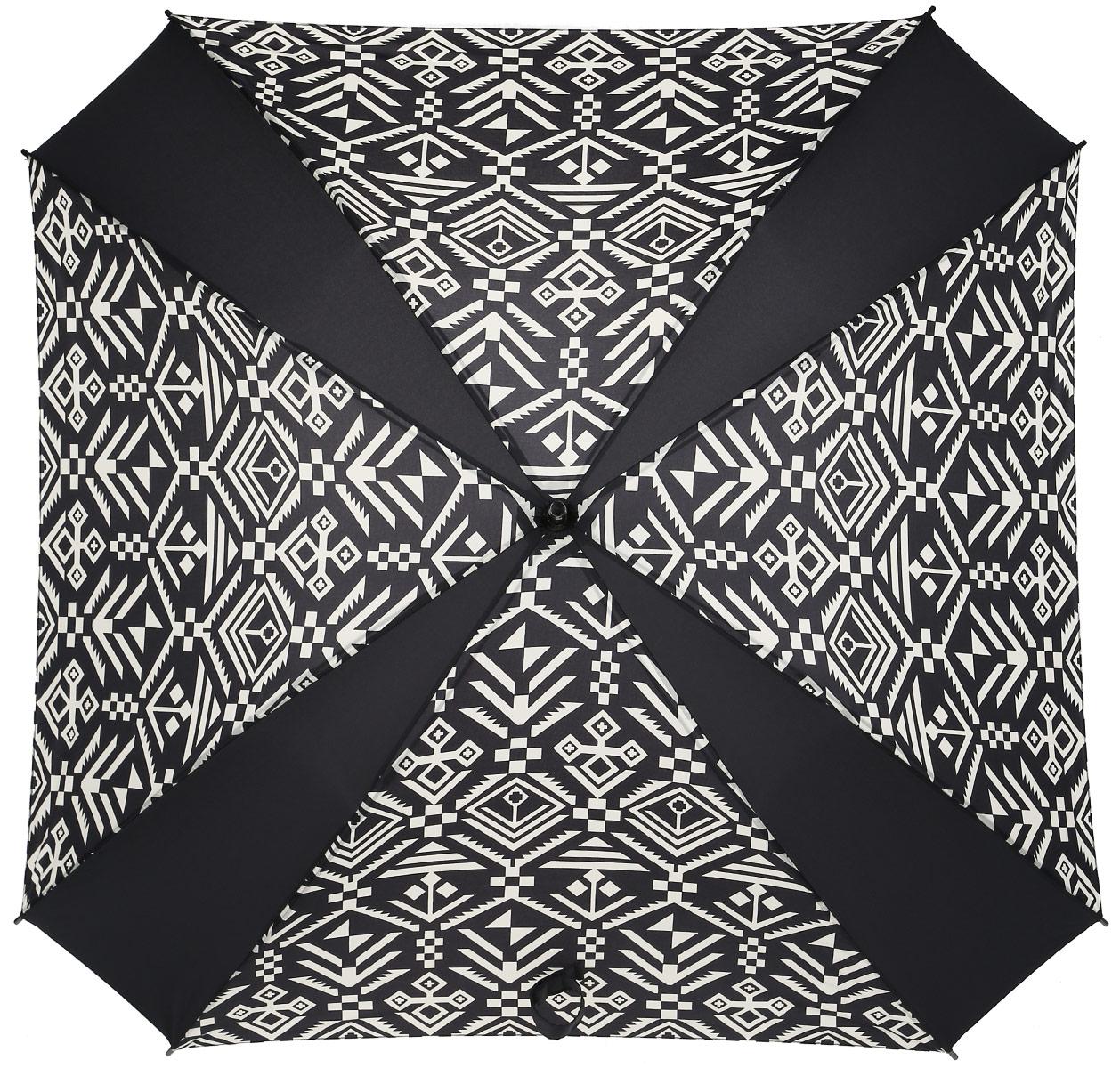Зонт-трость Reisenthel, цвет: черный, белый. YM703445102176/33205/7900XНи снег, ни проливной дождь не страшны, когда с вами ваш надежный друг - красивый зонт-трость. А надежен он благодаря своей инновационной форме в виде октагона - фигуры с 8 углами. У зонта гибкие спицы со специальными пружинами, которые не сломаются. При сильном ветре зонт просто вывернется наизнанку. А вот острый наконечник и ручка, которая позволяет повесить зонт - самые что ни на есть классические, удобные и красивые. Чтобы просушить его, просто оставьте открытым (пожалуйста, не сворачивайте зонт, пока он мокрый).